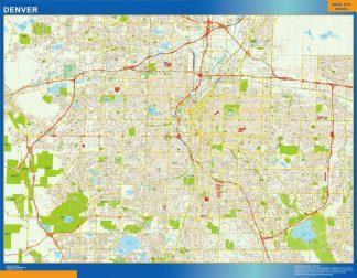 Biggest Denver wall map