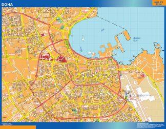 Biggest Doha laminated map