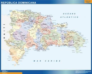 Biggest Dominican Republic map