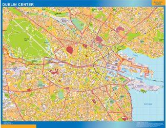 Biggest Dublin downtown map