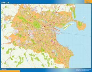 Biggest Dublin wall map