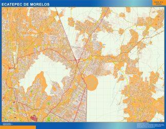 Biggest Ecatepec de Morelos map Mexico