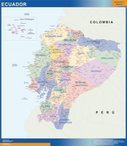 Biggest Ecuador map