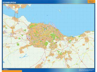 Biggest Edinburgh laminated map