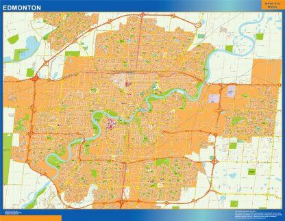 Biggest Edmonton wall map