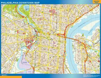 Biggest Filadelfia downtown map