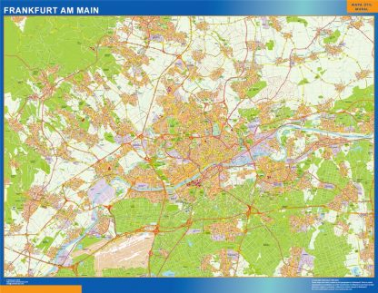 Biggest Frankfurt Am Main map in Germany