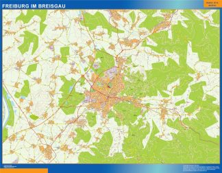 Biggest Freibug Im Breisgau map in Germany