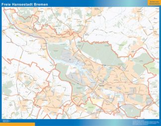 Biggest Freie Hansestadt Bremen map