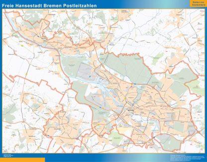Biggest Freie Hansestadt Bremen zip codes map
