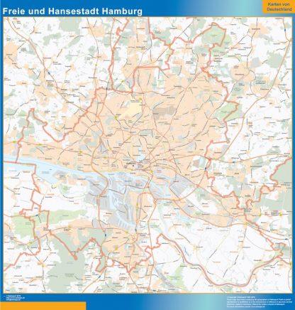 Biggest Freie und Hansestadt Hamburg map