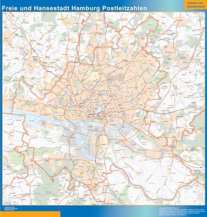 Biggest Freie und Hansestadt Hamburg zip codes map