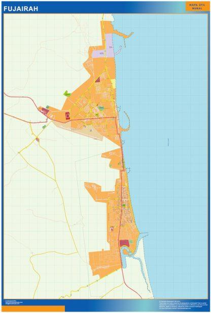 Biggest Fujairah map in Emirates