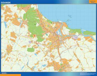 Biggest Gdansk map Poland