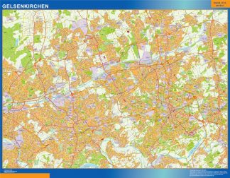 Biggest Gelsenkirchen map in Germany