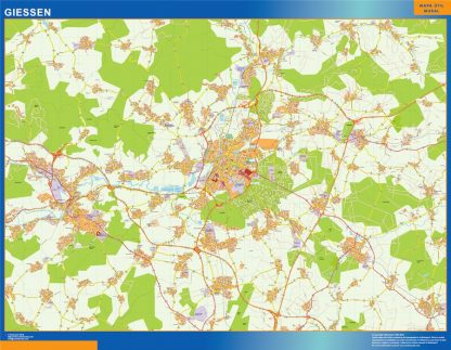 Biggest Giessen map in Germany