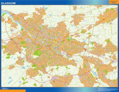 Biggest Glasgow laminated map