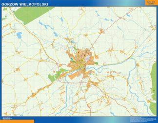 Biggest Gorzow Wielkopolski map Poland