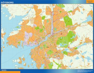 Biggest Goteborg map in Sweden