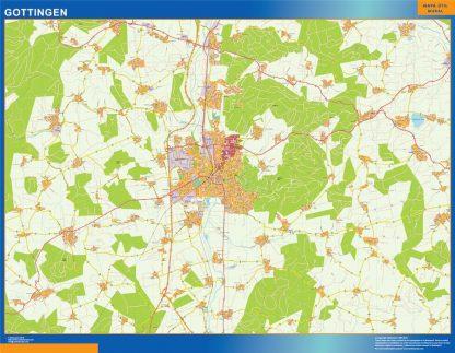 Biggest Gottingen map in Germany