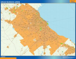 Biggest Gran Buenos Aires map in Argentina