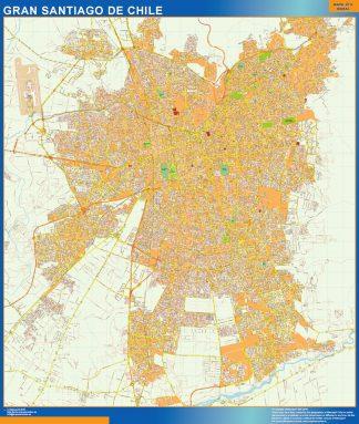 Biggest Gran Santiago de Chile map from Chile