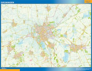 Biggest Groningen map in Netherlands