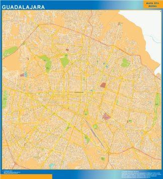 Biggest Guadalajara Centro map Mexico