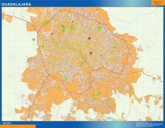 Biggest Guadalajara map Mexico
