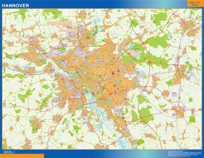 Biggest Hannover map in Germany