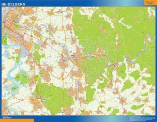 Biggest Heidelberg map in Germany