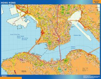 Biggest Hong Kong laminated map