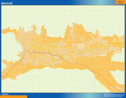 Biggest Ibague map in Colombia