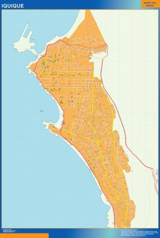 Biggest Iquique map from Chile