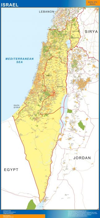 Biggest Israel map