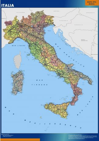 Biggest Italy map