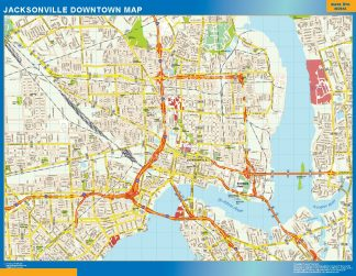 Biggest Jacksonville downtown map