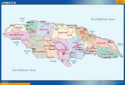 Biggest Jamaica map