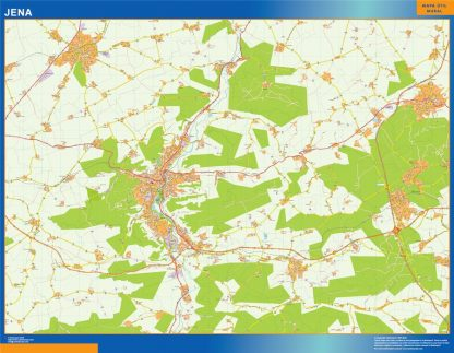 Biggest Jena map in Germany