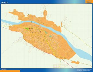 Biggest Jujuy map in Argentina
