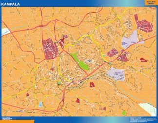 Biggest Kampala wall map