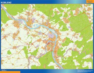 Biggest Koblenz map in Germany