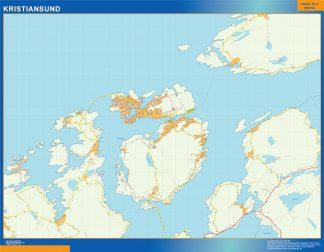 Biggest Kristiansund map in Norway