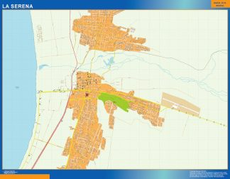 Biggest La Serena map from Chile