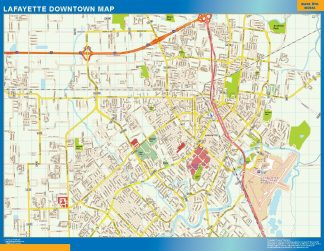 Biggest Lafayette downtown map