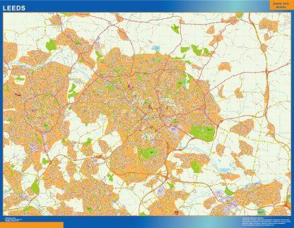 Biggest Leeds laminated map