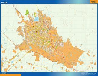 Biggest Leon map Mexico