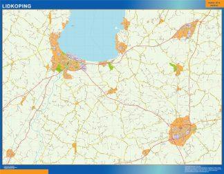 Biggest Lidkoping map in Sweden
