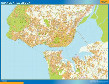 Biggest Lisboa Grande Area map