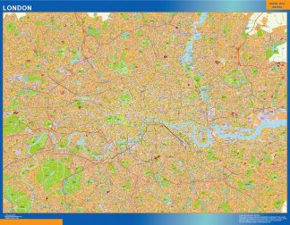 Biggest London laminated map